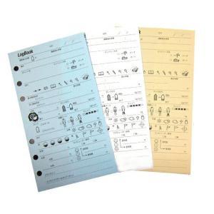 6穴式ログブック用スペアログレフィル10枚|discovery-jp