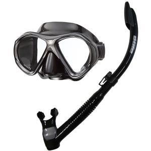 dlife[デライフ]軽器材2点セットMS-239BDブラックシリコンマスク&PROBLUE[プロブルー]SN-1084Bブラックシリコンスノーケル]軽器材セット|discovery-jp