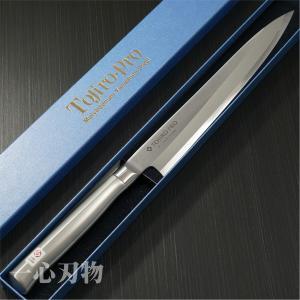 【 オールステンレス 柳刃刺身包丁 藤次郎 F-624 仕様 】  ● 刃渡り:約300mm  ● ...