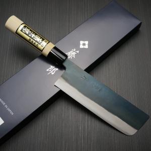 包丁 菜切 165mm 菜切り 藤次郎 藤次郎作 安来鋼白紙2号 鍛造 黒打研出し 朴木柄 噛み付くような鋭い切れ味 日本製 F-699 discovery-shop