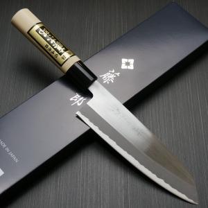 【 白紙鋼 三徳包丁 藤次郎 F-701A 仕様 】  ● 刃渡り:約165mm  ● 全長:約30...