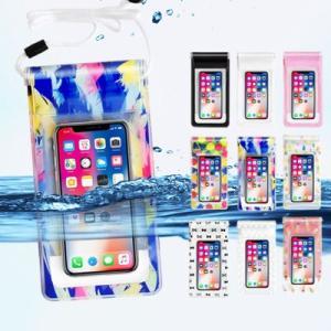 防水ケース スマホ用 iphone Android 7インチ 大きめ かわいい 海 小物入れ 旅行 キャンプ プール 撮影 通話|dish