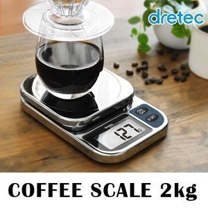 コーヒースケール 2kg ドリップスケール デジタル コーヒー ドリップ キッチン クッキングスケー...