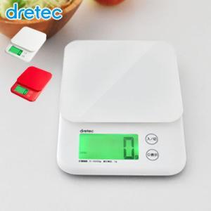 【送料無料】 dretec デジタルスケール 5kgはかり キッチンスケール デジタル キッチン 電子はかり デジタルはかり クッキングスケール 計量器|dish
