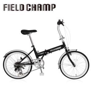 フィールドチャンプ 自転車 折畳み 16インチ シマノ製 6段ギア マウンテンバイク シティサイクル ブラック|dish