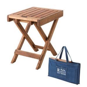 アウトドア 折りたたみサイドテーブル 木製 フォールディングテーブル キャンプ レジャー お花見 ピクニック 海水浴 ハンディテーブル|dish