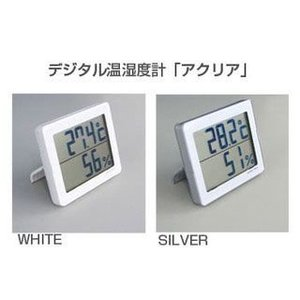 デジタル温湿度計 「アクリア」 dish