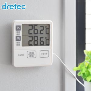 室内外温度計 デジタル センサーコード 室内 水槽 水温計 冷蔵庫|dish