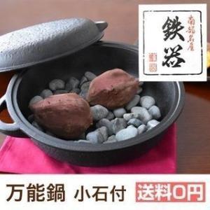 万能鍋(小石付) 南部鉄器 鋳造 鉄分 頑丈 オーブン 圧力...