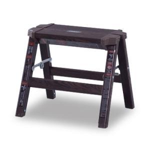 折り畳み スツール 1段 木目調 踏み台 アンティーク 椅子 アルミ ステップ台 ステップスツール 木製 おしゃれ モダン 子供 ブルックリン 北欧  送料無料 花台|dish
