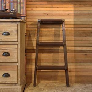 折り畳み スツール 3段 木目調 踏み台 アンティーク 椅子 アルミ ステップ台 ステップスツール 木製 おしゃれ モダン 子供 ブルックリン 北欧  送料無料 花台|dish