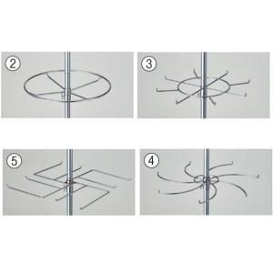 ハンガースタンド ラウンドハンガー 回転式 追加用フック/リング 回転什器 部品 ディスプレイ用品 アパレル展示 EX-312-7-2|displan