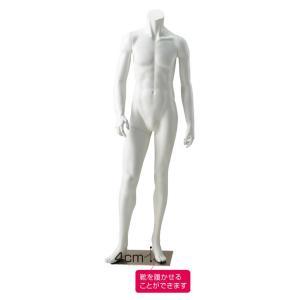 全身マネキン 紳士用マネキン トルソー リアルタイプ Mサイズ 固定アーム付き ヘッドレス ホワイト 靴を履かせられます EX3-224-5-1|displan
