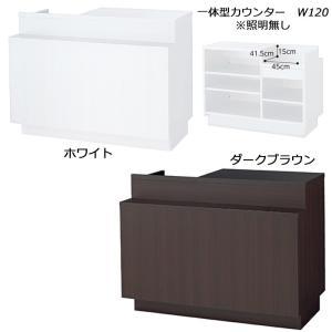 レジカウンター オシャレ 一体型カウンター W120cm 照明無し カラー2色 店舗什器 受付けカウンター 業務用 キャッシャー台 EX4-127-1-1|displan