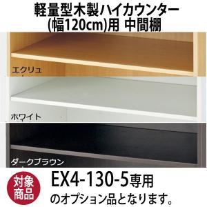 軽量型木製ハイカウンター幅120cm用 中間棚 オプション商品 カラー3色 収納棚 棚板 追加オプション EX5-141-6-10 displan