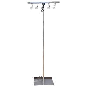 スポットスタンド 照明器具 配線ダクト付き 組立て式 業務用 展示会照明 ライトスタンド 商品のライティングに最適です F2170|displan