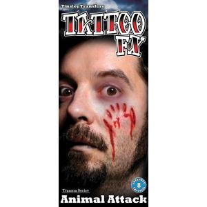 レディース タトゥーシール costume【コスチューム】 傷タトゥーシール(Animal Attack)/全1色 特殊メイク 傷口 ゾンビ ペイント|dita