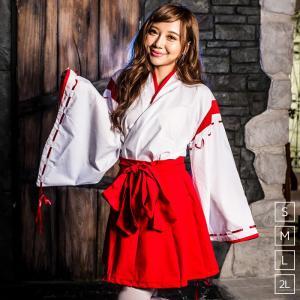 巫女 コスプレ レディースcostume【コスチューム】巫女さん/全1色2点セット(羽織、袴スカート)|dita