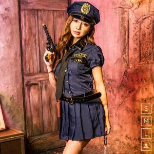 ポリス コスプレ レディース costume【コスチューム】ネイビーポリス/全1色6点セット(帽子、ワンピース、ネクタイ、ベルト、拳銃、手錠)|dita