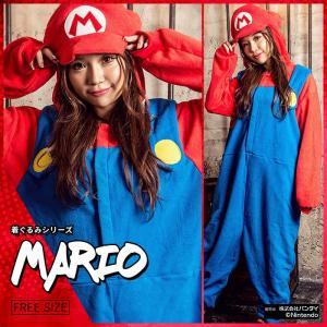 レディース 着ぐるみ costume(コスチューム)マリオ フリースなりきり全身着ぐるみ/全1色