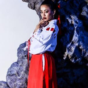 レディース 巫女 コスプレcostume【コスチューム】 巫女セット/全1色(BL)装束 衣装 装飾|dita