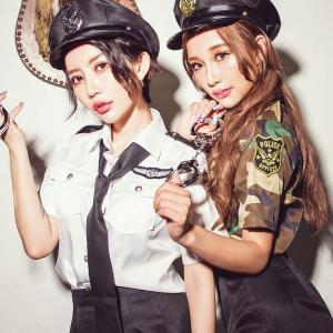 ポリス 警察 コスプレ  レディースcostume【コスチューム】 ポリスセット/全1色(BL)|dita