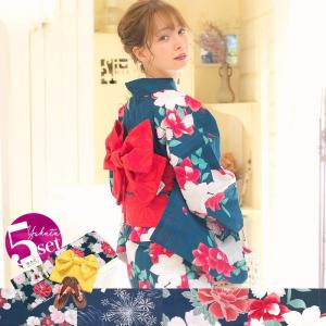 浴衣 レディース セット 京都本格 選べる20柄 女性浴衣4...