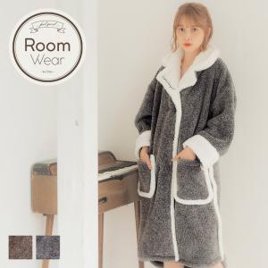 ガウン レディース メランジシャギー刺繍入りガウン/全2色 ルームウェア もこもこ 着る毛布 冬 ペア パジャマ 部屋着 暖かい 長袖 プレゼント シンプル|dita