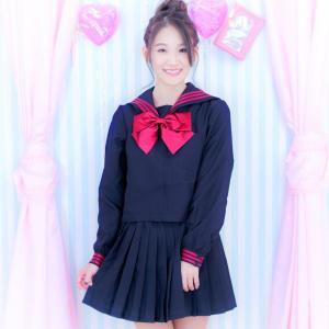 costume(コスチューム) リボンセーラー 3点セット(ブラウス、スカート、スカーフ )(ハロウィン 制服 学生 スカート セット 学生服 かわいい) dita