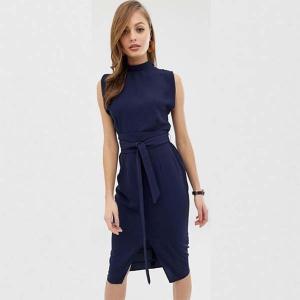 ASOS エイソス asos ハイネック ワンピース ネイビー リボン 小さいサイズあり 大きいサイズあり 30代 40代 20代 インポートブランド エイソス パーティー|diva-dress