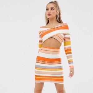 ASOS asos エイソス ショートドレス カットアウト ボディコン 小さいサイズあり パーティードレス 大きいサイズあり 30代 40代 結婚式 20代 お呼ばれ 二次会 diva-dress