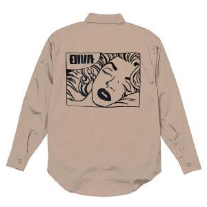 刺繍 シャツ 刺繍シャツ ボタンダウン ロングスリーブ シャツ ヴィンテージライク
