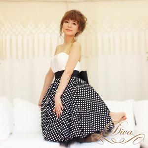 パーティードレス 結婚式 20代 30代 40代 大きいサイズ 二次会 ワンピース 大きなリボン付きショートドレス|diva-dress
