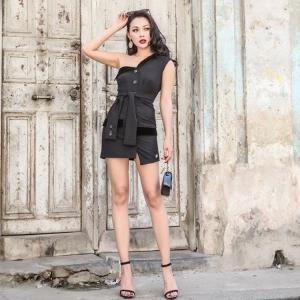 ワンショルダー タイトライン パーティードレス ドレスワンピース ショートドレス レディース ショート丈 大人可愛い トレンド 大きいサイズ|diva-dress