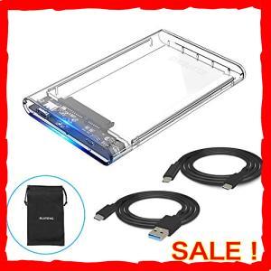 ELUTENG USB Type C接続 2.5インチ HDD SSD ケース SATA to US...