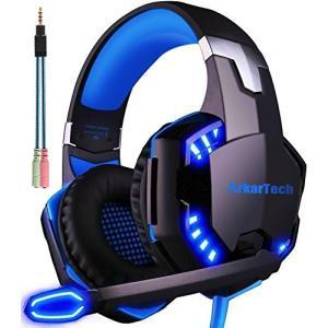 ARKARTECH G2000 ゲーミング ヘッドセット ヘッドホン ヘッドフォン ゲームヘッドセッ...