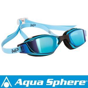 Aqua Sphere/アクアスフィア エクシードチタニウム ミラーレンズ ブルー/ブラック[381050011300]|diving-hid