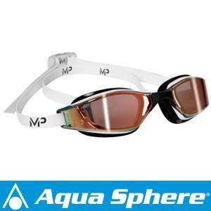 Aqua Sphere/アクアスフィア エクシードチタニウム ミラーレンズ ホワイト/ブラック[381050018300]|diving-hid