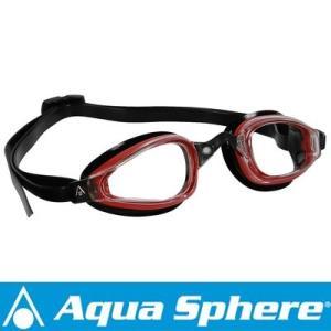 Aqua Sphere/アクアスフィア K180 クリアレンズ レッド/ブラック[381050137200]|diving-hid