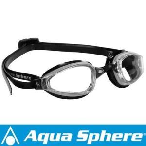 Aqua Sphere/アクアスフィア K180 クリアレンズ シルバー/ブラック[381050137700]|diving-hid