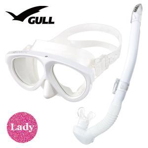 ダイビング マスク シュノーケル セット 軽器材 2点セット GULL マンティス 5 レイラステイ...