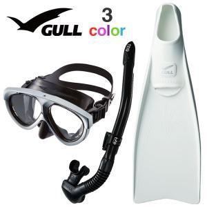GULL ガル スーパーミュー マンティス 5  ダイビング マスク フィン シュノーケル セット ...