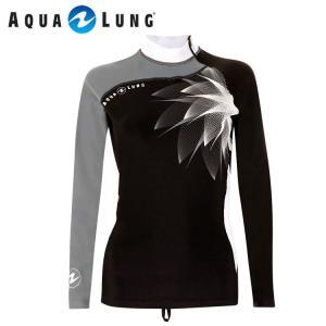ラッシュガード AQUALUNG/アクアラング アクアラング オリジナル ラッシュガード 長袖 レディース[60105029]|diving-hid