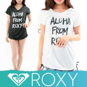 ROXY ロキシーラッシュガード レディース Tシャツ ラッシュT 水着 体型カバー ALOHA FROM ROXY RLY171052|diving-hid