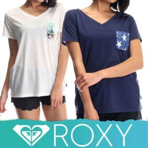ROXY ロキシーラッシュガード レディース Tシャツ ラッシュT 水着 体型カバー GO TO THE SEA RLY172025[60158243]|diving-hid