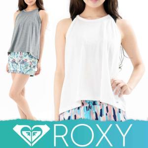 ROXY ロキシーラッシュガード レディース Tシャツ ラッシュT 水着 体型カバー タンクトップ DETOUR RLY172046[60158246]|diving-hid