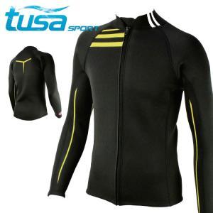 ウェットスーツ 2mm ジャケット 男性用 tusa sport/ツサスポーツ UA5110 男性用 ウェットスーツ[60203001]|diving-hid