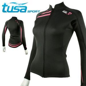 ウェットスーツ 2mm ジャケット 女性用 tusa sport/ツサスポーツ UA5111 女性用 ウェットスーツ[60203002]|diving-hid