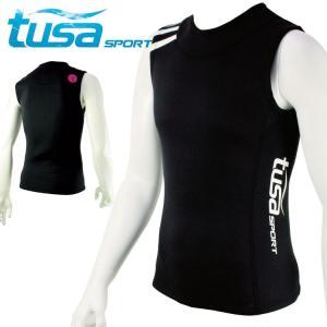 ウェットスーツ 2mm ベスト tusa sport/ツサスポーツ UA5112 ウェットスーツベスト[60203003]|diving-hid