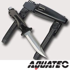 AQUATECH/アクアテック ダイビングナイフ タイガーナイフ ステンレススチール[803760010000]|diving-hid